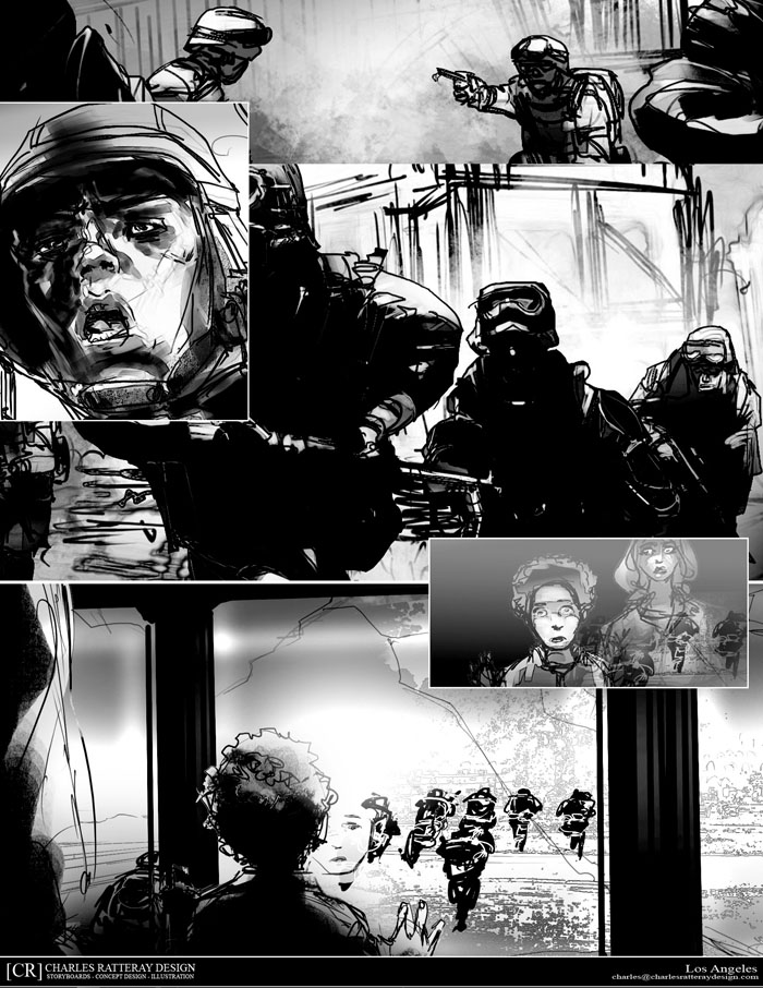 Art: Riddick 3 Comic Con Poster Art And Storyboard Panels