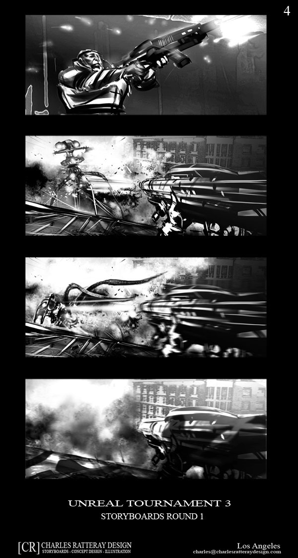 Riddick 3 comic con poster art and storyboard panels