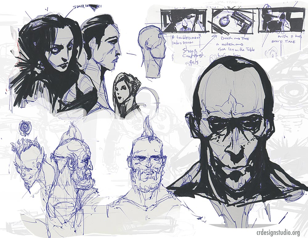 CRDESIGNSTUDIO.ORG- STORYBOARD ARTIST Sketchbook - SOME EXTREME VIOLENCE AND NUDITY..